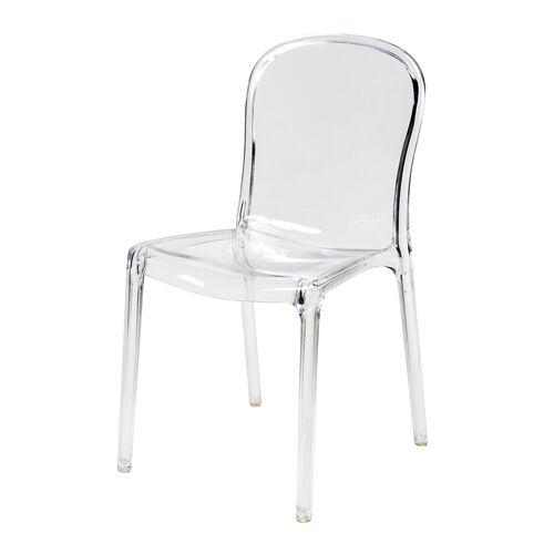 Genoa Polycarbonate Dining Chair - Clear
