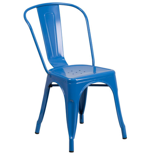 Our Blue Metal Indoor-Outdoor Stackable Chair is on sale now.