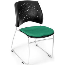 Stars Stack Chair - Forest Green Seat Cushion