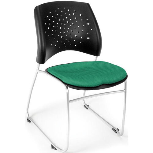 Our Stars Stack Chair - Forest Green Seat Cushion is on sale now.