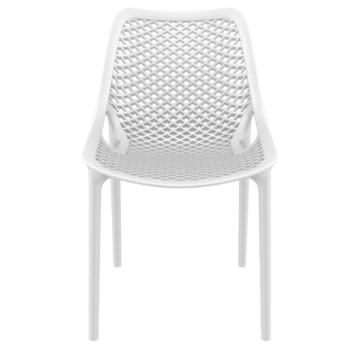 Compamia air modern resin outdoor dining chair white for Designer chairs for less
