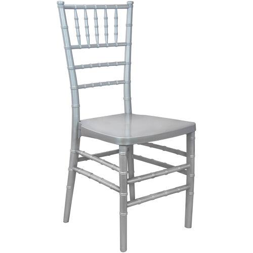 Advantage Silver Monoblock Resin Chiavari Chair