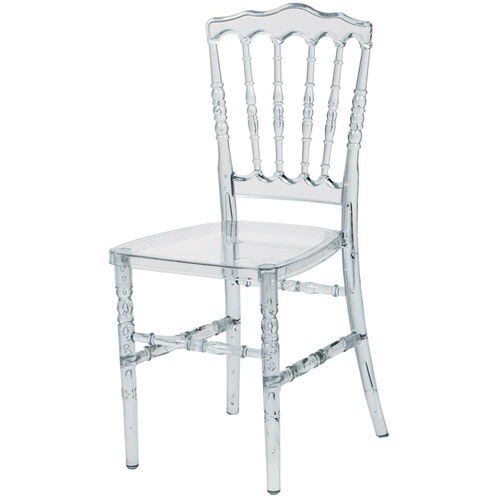 Our Napoleon Clear Polycarbonate Stackable Chair is on sale now.