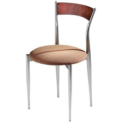 Cafe Twist Maple Chair with Ply Wood Back and Upholstered Seat