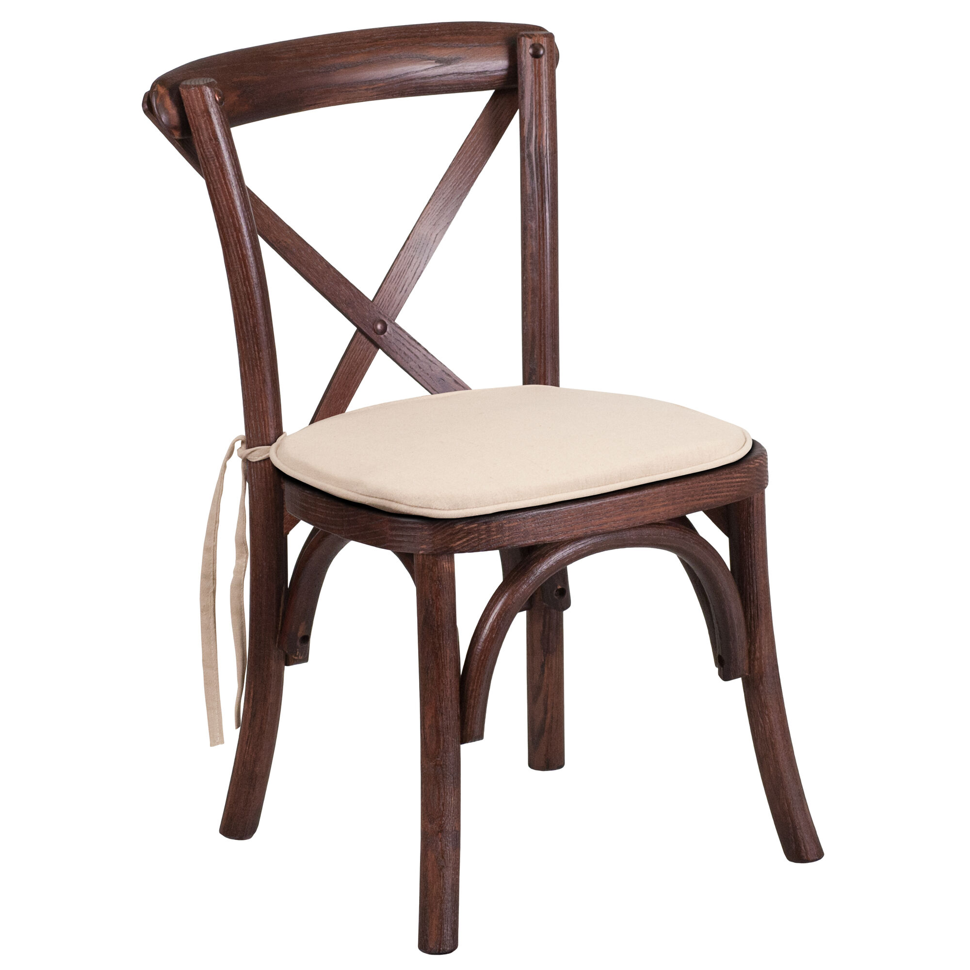 Wondrous Hercules Series Stackable Kids Mahogany Wood Cross Back Chair With Cushion Andrewgaddart Wooden Chair Designs For Living Room Andrewgaddartcom
