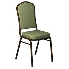 Crown Back Banquet Chair in Biltmore Alfalfa Fabric - Gold Vein Frame