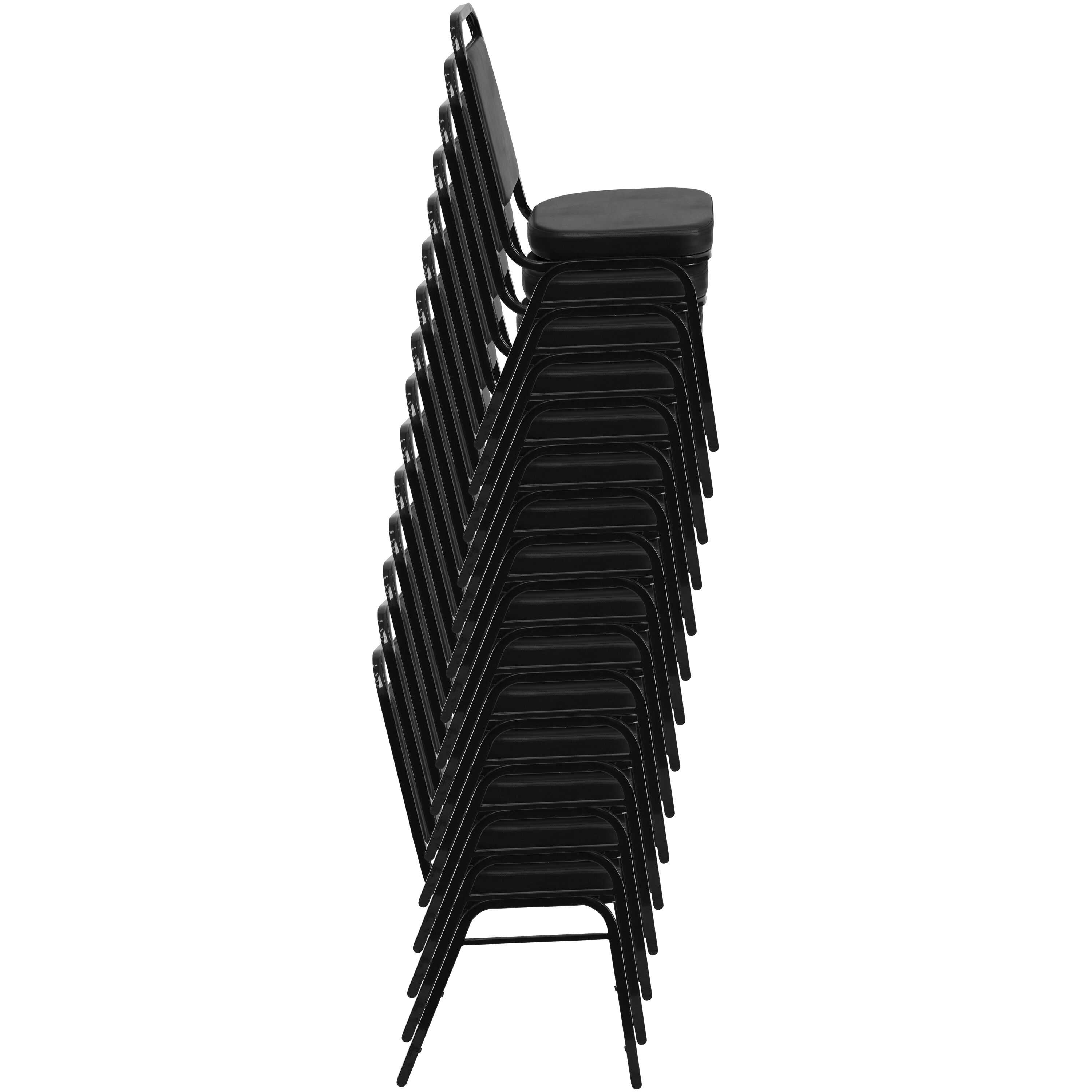 Images. HERCULES Series Trapezoidal Back Stacking Banquet Chair ...