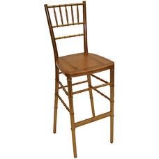 1000 lb. Max Gold Resin Steel Core Chiavari Barstool