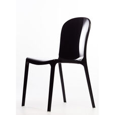 Genoa Polycarbonate Dining Chair - Black