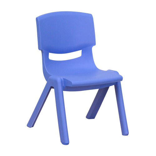 Our Blue Plastic Stackable School Chair with 10.5