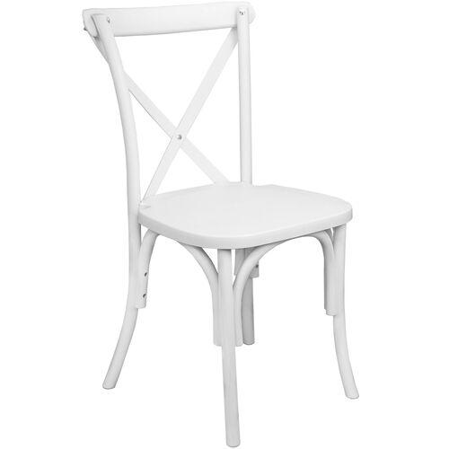 Advantage White Resin X-Back Chair