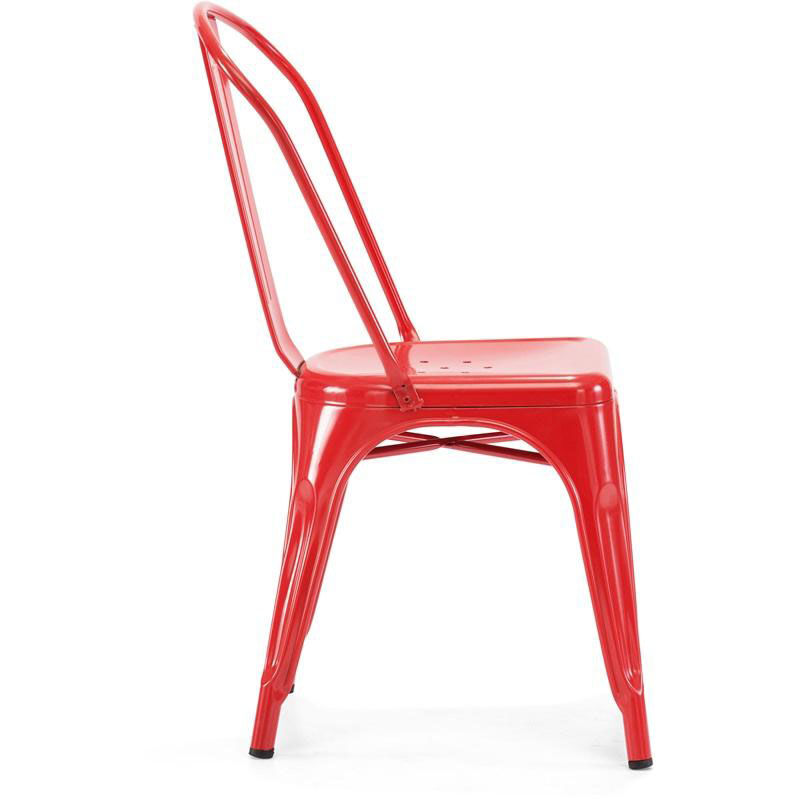 ... Our Dreux Stackable Glossy Red Steel Side Chair   Set Of 4 Is On Sale  Now ...