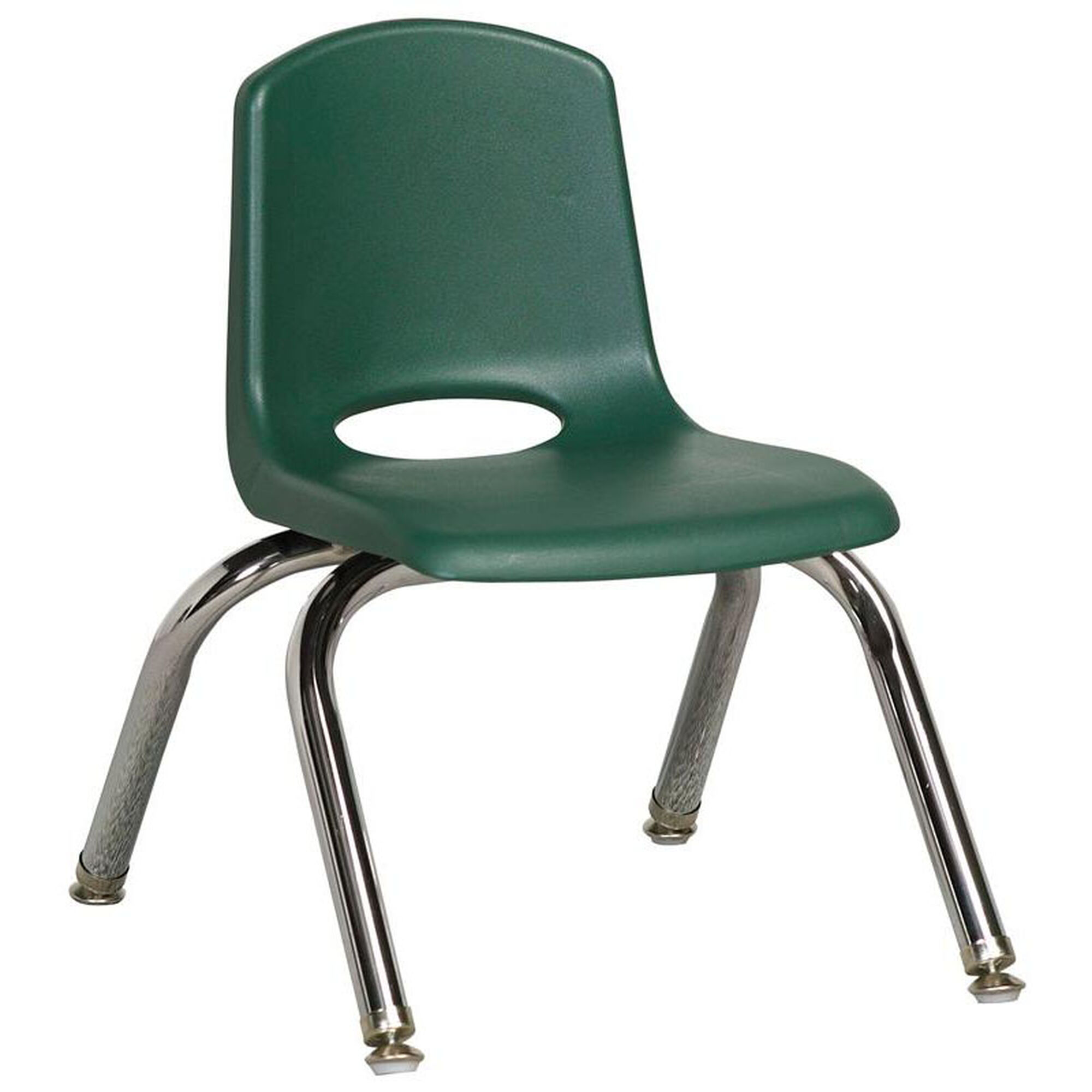 Ecr4kids 10 H Vented Back Stacking Chair With Chrome Legs