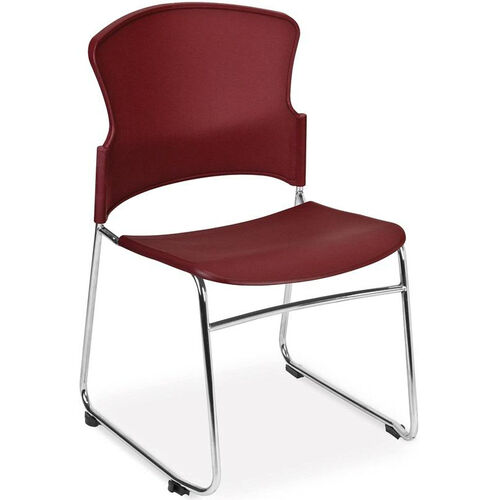 Our Multi-Use Stack Chair with Plastic Seat and Back - Wine is on sale now.