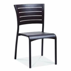 Riviera Collection Stackable Bronze Aluminum Outdoor Side Chair