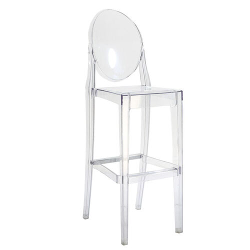 Our Clear Polycarbonate Armless Kage Barstool is on sale now.