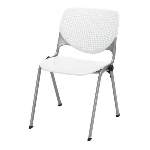 Our 2300 KOOL Series Stacking Poly Armless Chair with Perforated Back and Silver Frame - White is on sale now.