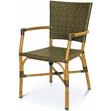 Havana Collection Safari Bamboo Stackable Outdoor Arm Chair