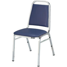 Quick Ship 800 Series Stacking Armless Hospitality Chair with Trapezoid Back and 1.5