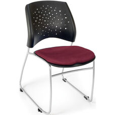 Stars Stack Chair - Burgundy Seat Cushion