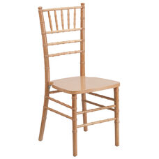 "HERCULES Series Natural Wood Chiavari Chair with <span style=""color:#0000CD;"">Free </span> Cushion"