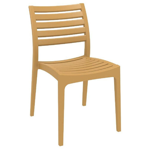 Our Ares Resin Outdoor Stackable Dining Chair - Teak Brown is on sale now.