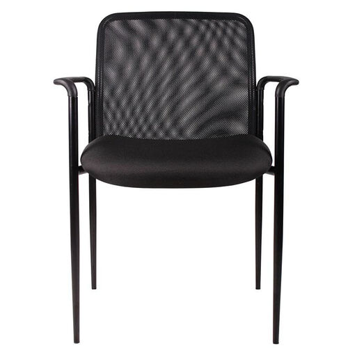 Our Breathable Mesh Stack Guest Chair with Powder Coated Steel Frame - Black is on sale now.