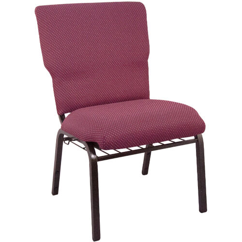 Advantage Burgundy Pattern Discount Church Chair - 21 in. Wide