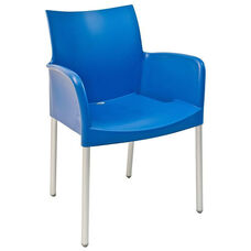 Pedrali Stackable Poly Shell Outdoor Arm Chair in Sky