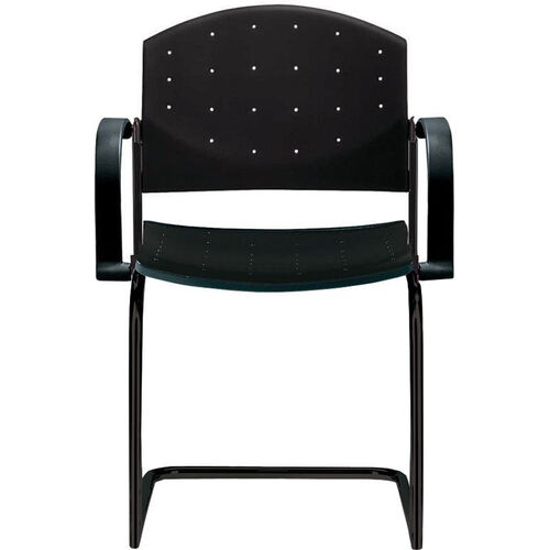 Our Eddy Sled Base Black Stack Side Chair with Arms is on sale now.