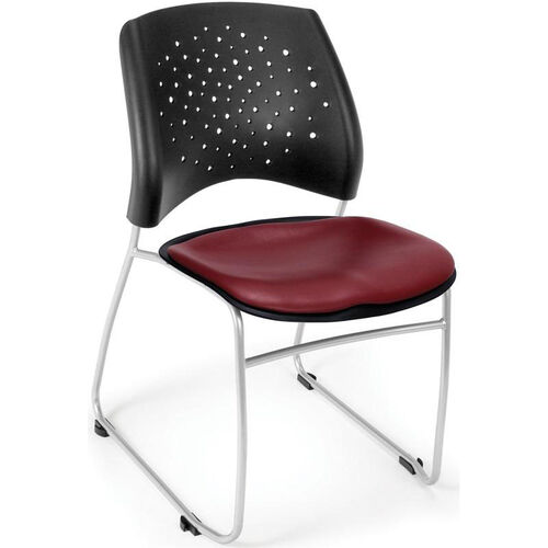 Our Stars Stack Chair with Vinyl Seat - Wine is on sale now.