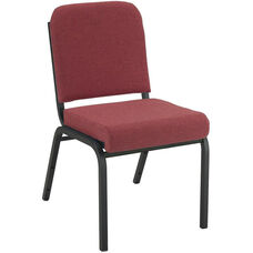 Quick Ship 1000 Series Stacking Steel Frame Armless Hospitality Chair with 2