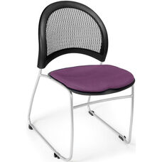 Moon Stack Chair with Fabric Seat Cushion - Plum