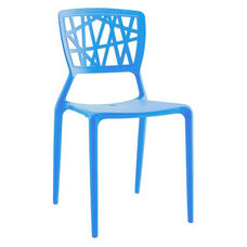 Vocci Blue Modern Stackable Side Chair - Set of 4