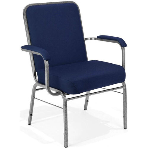 Our Comfort Class Big & Tall 500 lb. Capacity Stack Chair with Arms - Navy Fabric is on sale now.