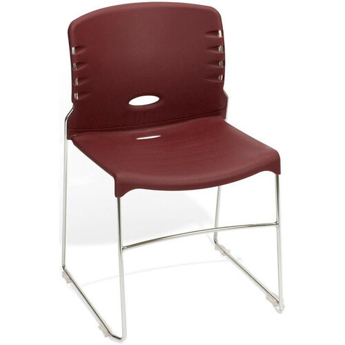 Our 300 lb. Capacity Plastic Seat and Back Stack Chair - Burgundy is on sale now.