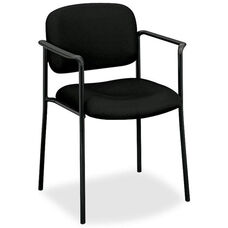 Basyx Mid-Back Stacking Guest Armchair - Black Fabric
