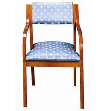 3400 Stacking Reception Chair w/ Upholstered Back & Seat - Grade 2