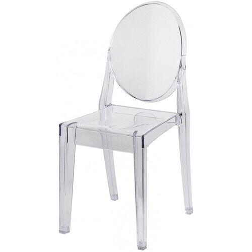 Polycarbonate Stackable Clear Armless Kage Chair