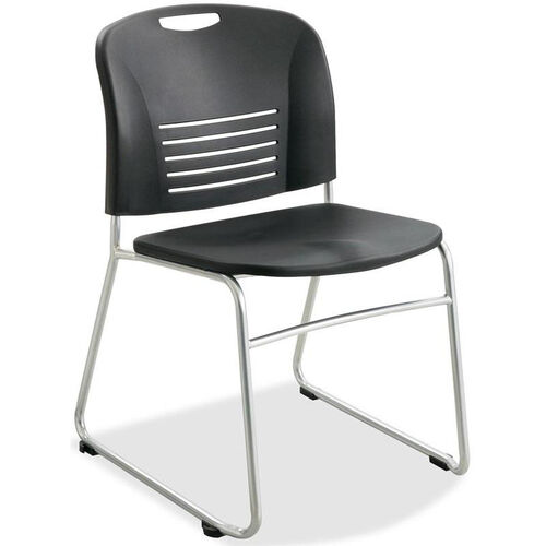 Our Safco Black Plastic Stacking Armless Chairs with Sled Base and Steel Frame - Set of 2 is on sale now.
