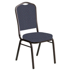 Crown Back Banquet Chair in Abbey Caspian Fabric - Gold Vein Frame