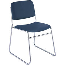 Quick Ship 300 Series Stacking Steel Frame Armless Guest Chair with Chrome Sled Base and 1.5