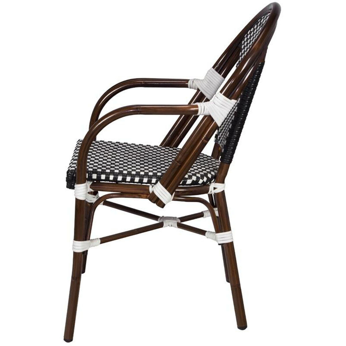 paris outdoor stacking arm chair. Black Bedroom Furniture Sets. Home Design Ideas