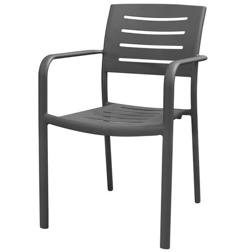 Our Adele Outdoor Aluminum Stackable Dining Arm Chair - Gunmetal Gray is on sale now.