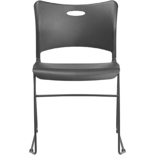 Indy 300 Series Multipurpose Sled Base Stacking Chair with Black Frame