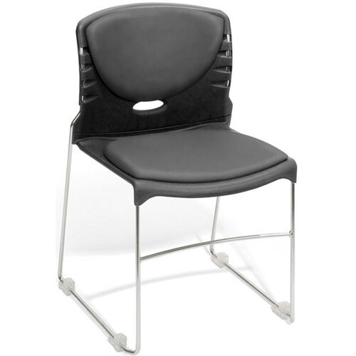 Our 300 lb. Capacity Stack Chair with Anti-Microbial and Anti-Bacterial Vinyl Seat and Back - Charcoal is on sale now.