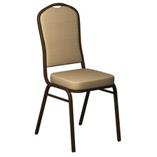 Crown Back Banquet Chair in Biltmore Golden Fabric - Gold Vein Frame