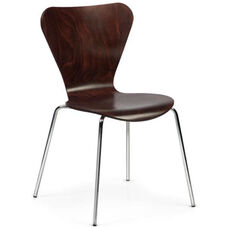 Clover Steel Frame Stacking Chair - Walnut