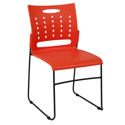 Our HERCULES Series 881 lb. Capacity Orange Sled Base Stack Chair with Air-Vent Back is on sale now.