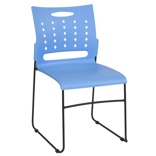 Our HERCULES Series 881 lb. Capacity Blue Sled Base Stack Chair with Air-Vent Back is on sale now.